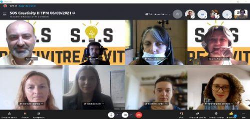 El consorcio del Proyecto SOS CREATIVITY participó en el segundo encuentro online de socios