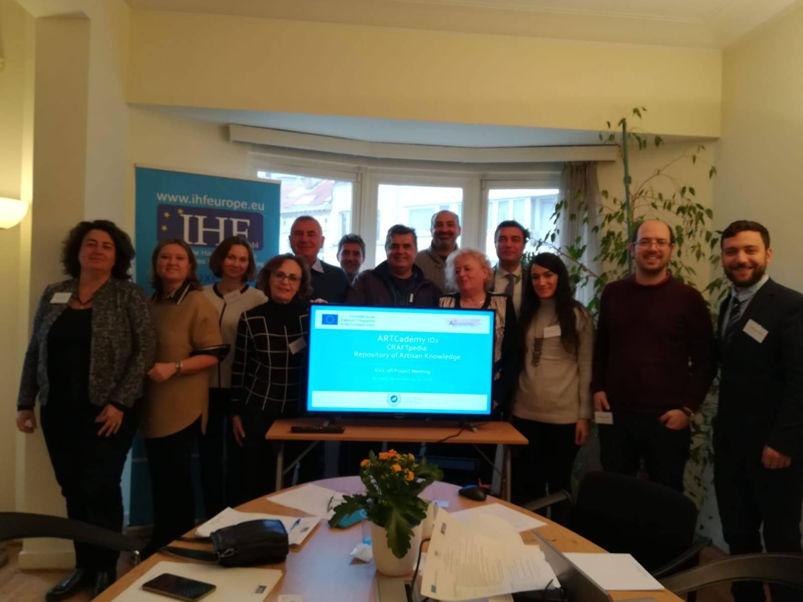 IWS viaja a Bruselas para celebrar el KOM del proyecto ARTCADEMY