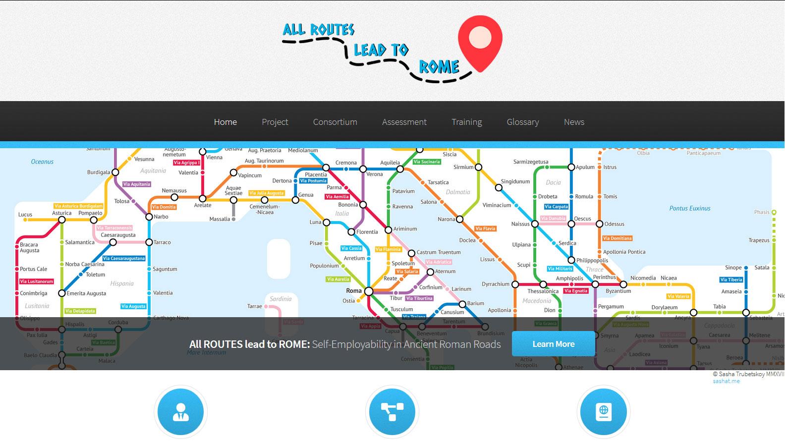 La web del proyecto ROMAN ROUTES: Autoempleo en las antiguas rutas romanas abierta al público