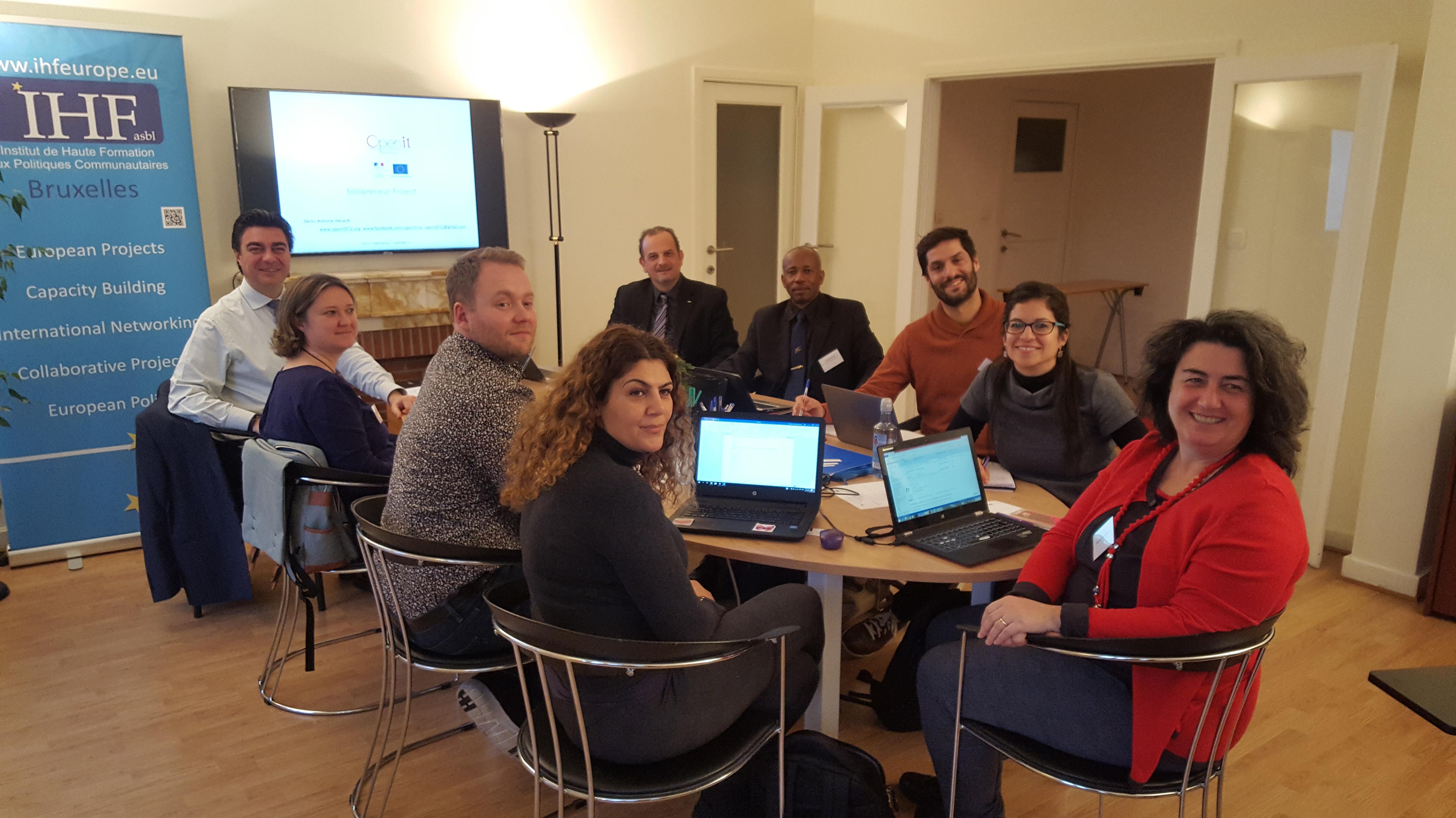 KOM del  proyecto SOLOPRENEUR, en Bruselas